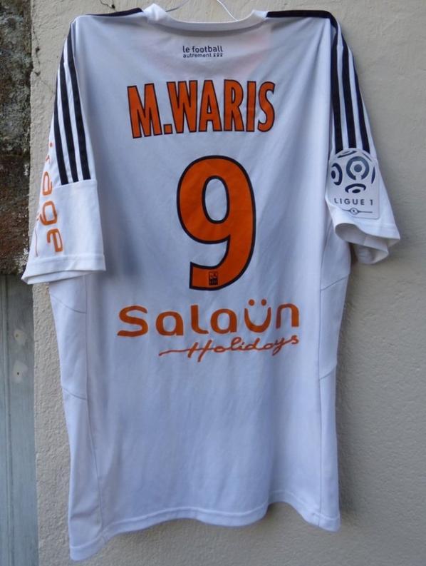 MAILLOT EXTERIEUR FC LORIENT 2015-2016 A.M. WARIS