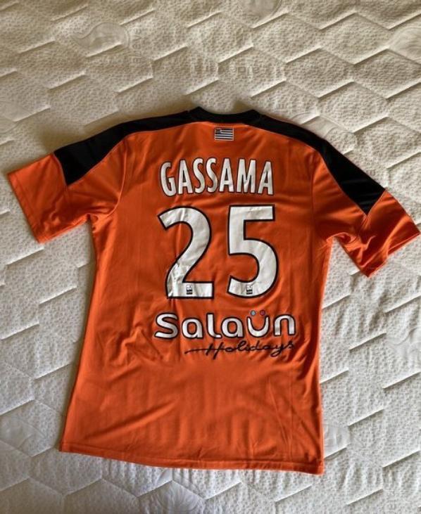 MAILLOT FC LORIENT 2014-2015 Lamine GASSAMA