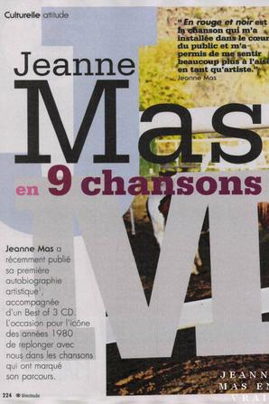 """News presse - Grand article sur Jeanne MAS dans le magazine """"FEMITUDE"""""""