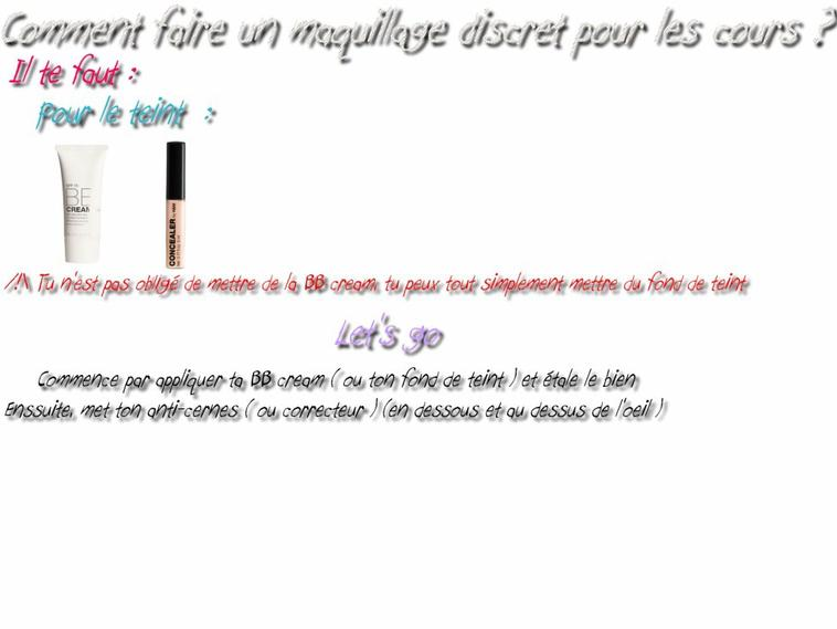 "Un petit tuto make up "" discret """