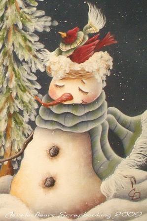 """Insertion d'hiver de ma boîte aux lettres """"Les mésanges""""..."""
