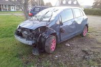 mon accident d'auto en octobre 2017
