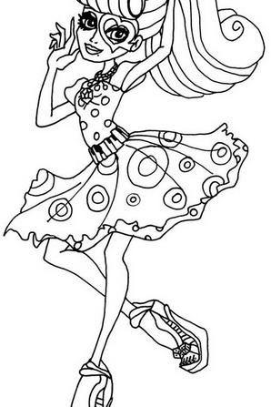 Quelque coloriages monster high la vie des monster high - Coloriage a imprimer monster high ...