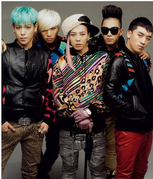 Un de mes groupes K-pop préférés : BIGBANG ♥