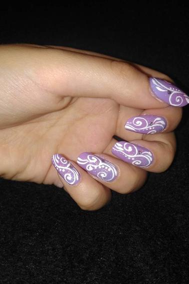 212ème Article : Spirales base violette