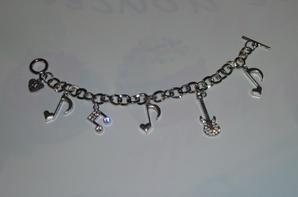 bracelet music strass