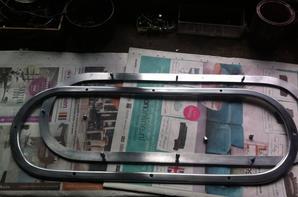 Aluminium window frame fitted!