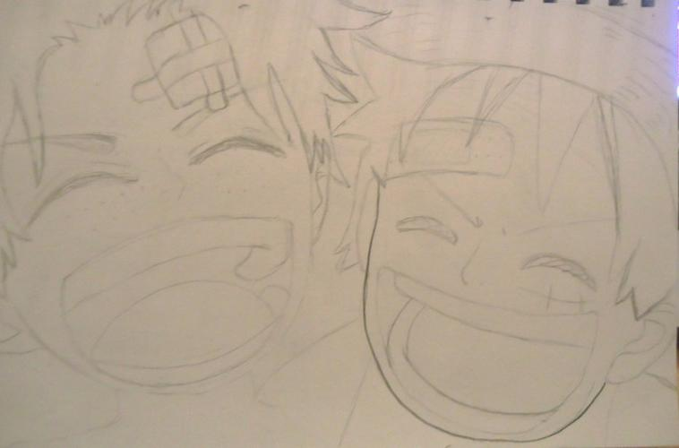 Dessin One Piece Luffy Et Ace Enfant Blog De Pikasiette