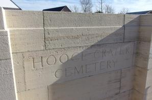 Hooge crater cemetery dans le west-Vlaanderen « Belgique »
