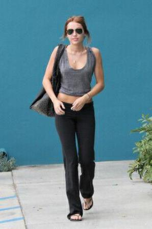 Flashback + Miley sort du pilates