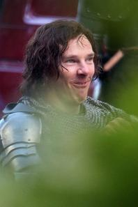 "Benedict Cumberbatch sur le tournage de  ""The Hollow Crown: The War of the Roses"""