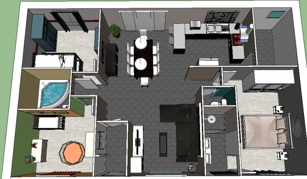 Plan 3d notre maison mikit et nous for Construire une maison en 3d