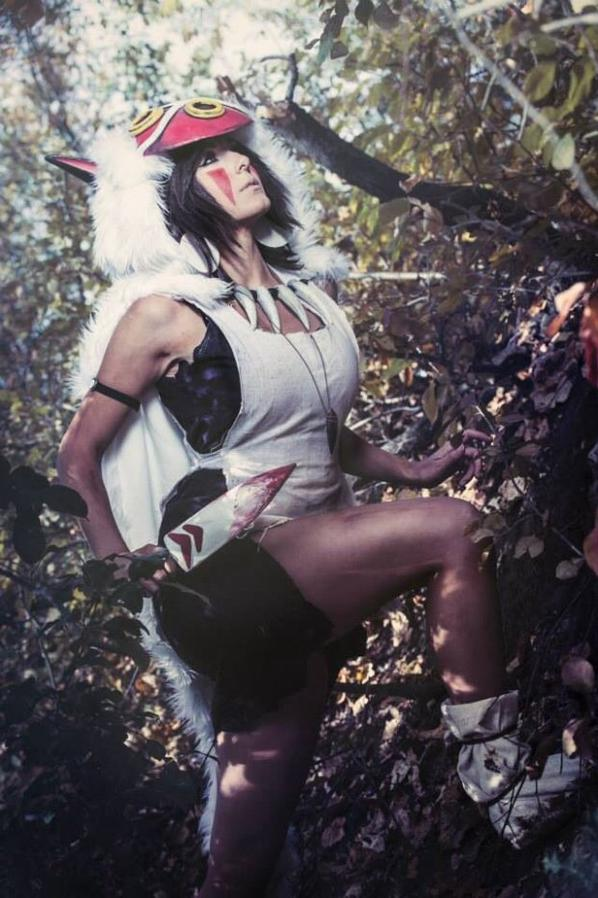 Cosplay de San (Princesse Mononoke)