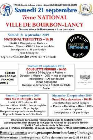 NATIONAL DE BOURBON LANCY.