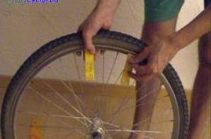 Démontage d'un pneu