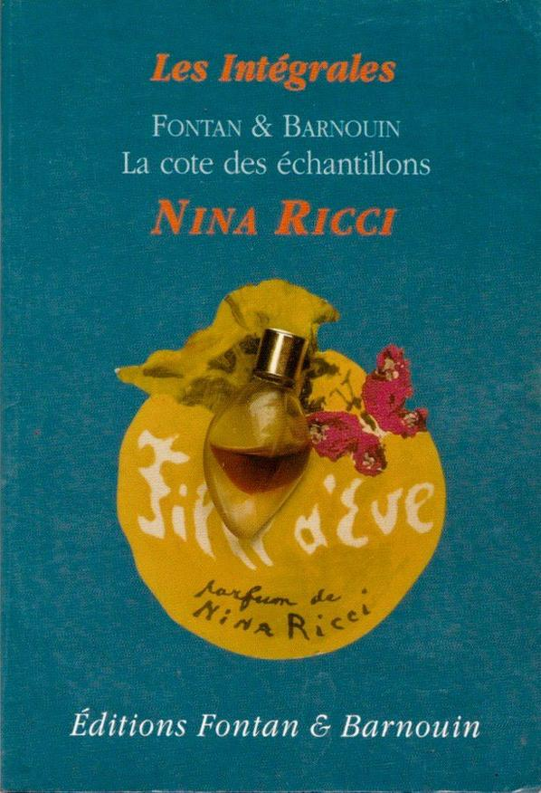 📚 Répertoire 📚 La cote des échantillons de Nina Ricci 📚