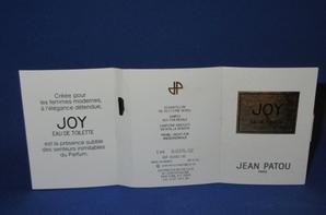 ✿  Patou Jean 🌸 JOY 🌸 échantillon ✿