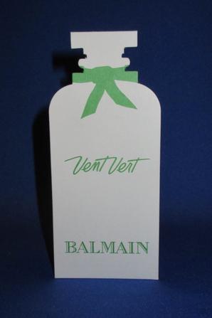 💌 Balmain Pierre 💌 cartes parfumées 💌