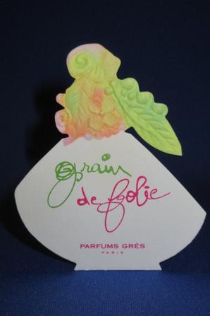 💌  Grès  💌 GRIN DE FOLIE  💌 carte parfumée  💌