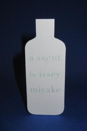 💌  Miyake Issey 💌  carte parfumée 💌