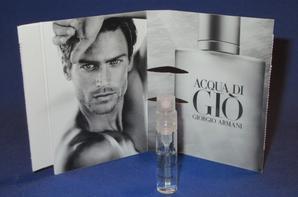 ✿ Armani Giorgio  🌸 les échantillons parfums pour Homme ✿