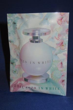 ✿ Del Pozo Jesus 🌸   IN WHITE  🌸  échantillon en pochette plastique ✿