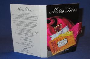 ✿  Dior Christian 🌸  MISS DIOR  🌸 les échantillons  ✿