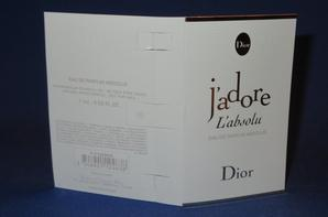 ✿  Dior Christian 🌸  J'ADORE L'ABSOLU 🌸 échantillon  ✿