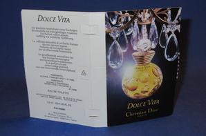 ✿  Dior Christian 🌸  DOLCE VITA 🌸 les échantillons  ✿