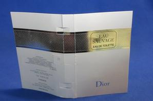 ✿ Dior Christian  🌸  EAU SAUVAGE EDT  🌸 les échantillons ✿