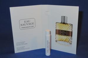 ✿ Dior Christian  🌸  EAU SAUVAGE FRAICHEUR CUIR  🌸  échantillon ✿