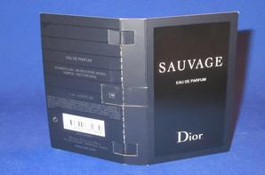 ✿ Dior Christian  🌸  SAUVAGE  🌸 les échantillons ✿