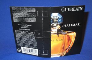 ✿ Guerlain 🌸  SHALIMAR 🌸 les échantillons ✿