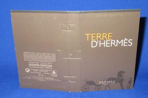 Hermès 🌸  TERRE D'HERMES EDT 🌸 les échantillons ✿
