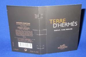 ✿ Hermès 🌸 TERRE D'HERMES PARFUM 🌸 échantillon ✿