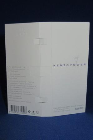 ✿ Kenzo 🌸 KENZO POWER HOMME 🌸  échantillon ✿