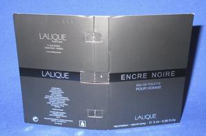 ✿ Lalique 🌸 ENCRE NOIR FEMME / HOMME  🌸  les échantillons ✿