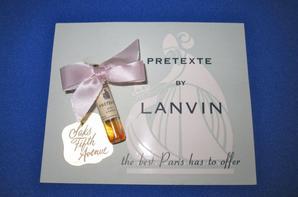 ✿ Lanvin 🌸 PRETEXTE 🌸 échantillon  ✿