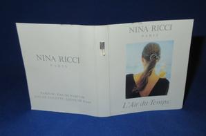✿ Ricci Nina  🌸 L'AIR DU TEMPS  🌸  échantillon ✿