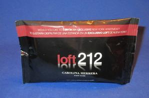 ✿ Herrera Carolina 🌸 LOFT 212 HOMME 🌸  échantillons en pochette plastique ✿