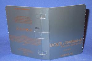 ✿ Dolce & Gabbana 🌸  PARFUMS POUR HOMME 🌸 les échantillons ✿