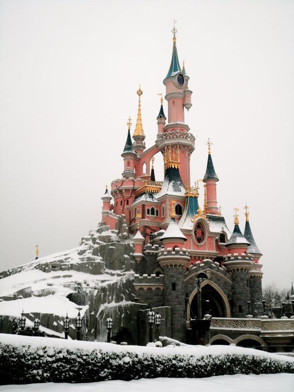 Disney sous la neige...