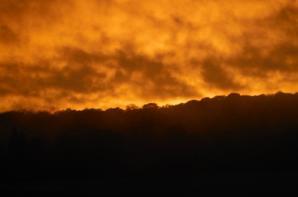 Coucher de soleil en Argonne...