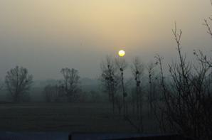 Lever et coucher de soleil en Argonne.