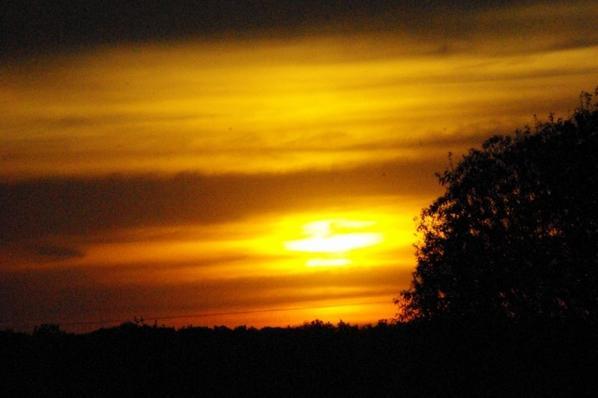 Coucher de soleil en Argonne.