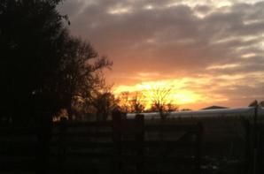Superbe lever de soleil du jour !