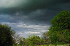 Ciel très contrasté en fin de journée.