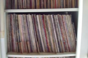 une petite parti , de la collection de mes vinyles . avec plut de 5000 ; 33 tour ,avec plut de 800 ; 45 tours : 180 . 78 tours :)