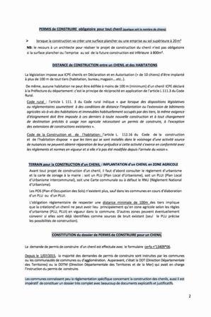 INFORMATIONS POUR LA CONSTRUCTION D'UN CHENIL