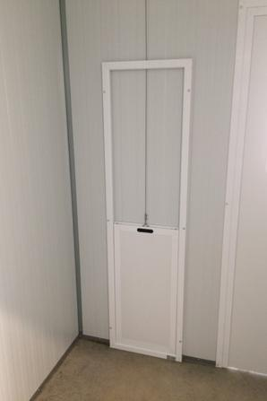 NOUVEAUTÉ 2018 : KIT Trappe guillotine profil alu blanc